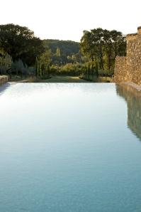 Vue bassin de natation